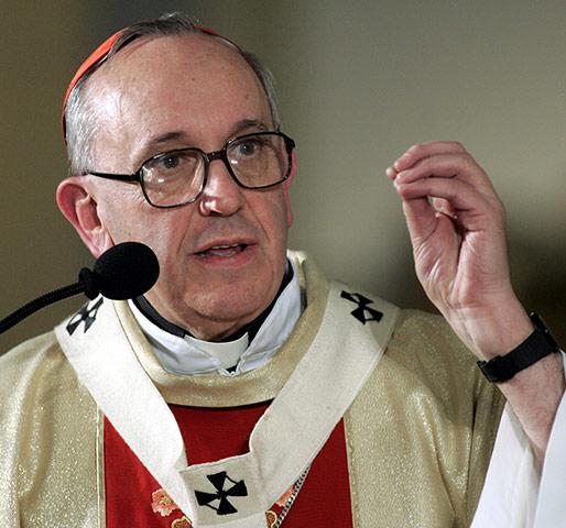 Cardinal Bergoglio conducting mass