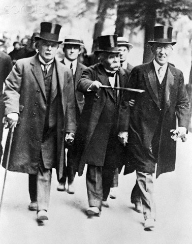 Lloyd George, Georges Clemenceau, and Woodrow Wilson