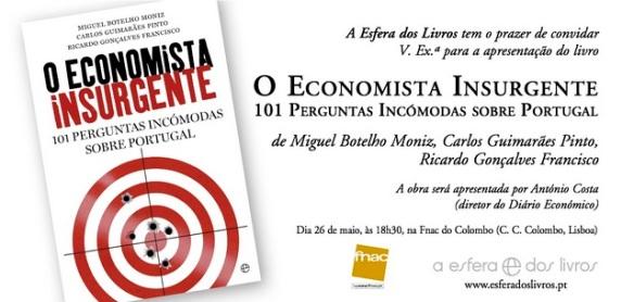 Convite O Economista Insurgente FNAC Colombo NET