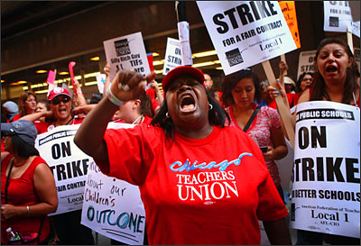 Chicago Teachers Go On Strike For First Time In 25 Years
