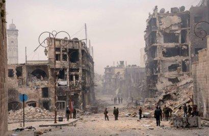 Imagem de Aleppo de George Ourfalian/Reuters para o NYR