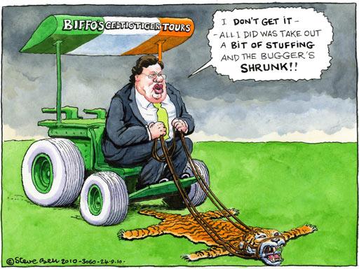 Imagem que o jornal britânico The Guardian usou em 2010 para criticar os cortes que estavam a ser feitos.