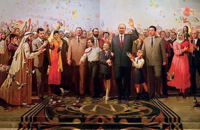 Челябинские студенты создали живую инсталляцию портрета Путина из собственных тел - Цензор.НЕТ 9554