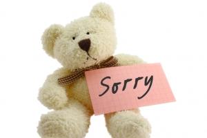 Teddy-saying-sorry
