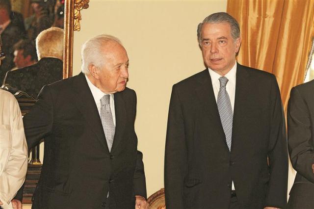 Mário Soares e o amigo Ricardo Salgado