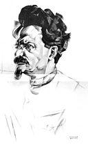Trotsky-Annenkov_1922_sketch