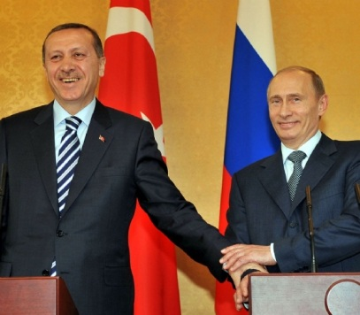 Putin e Erdoğan quando estavam disponíveis para o amor e a paz.