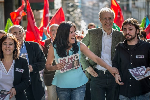 MR - Manuel Roberto - 23 Maio 2014 - Portugal - Porto - Campanha eleitoral para as eleicoes europeias - Bloco de Esquerda - BE - Marisa Matias