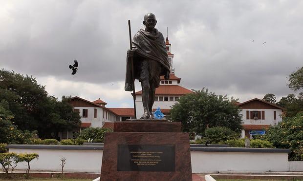Ghandi statue in Ghana Gana