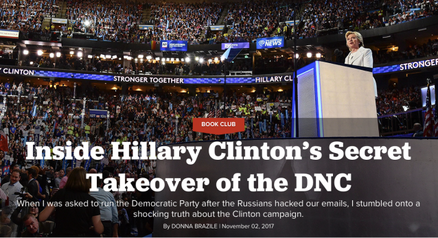 Hillary Clinton DNC takeover