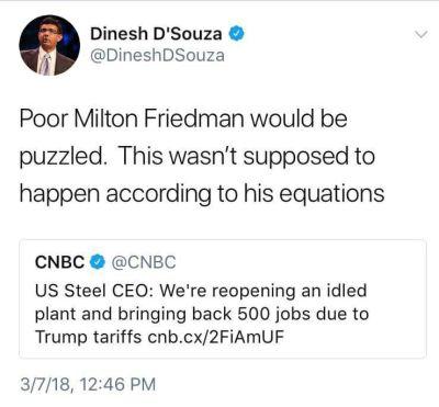 Dinesh nunca leu Friedman